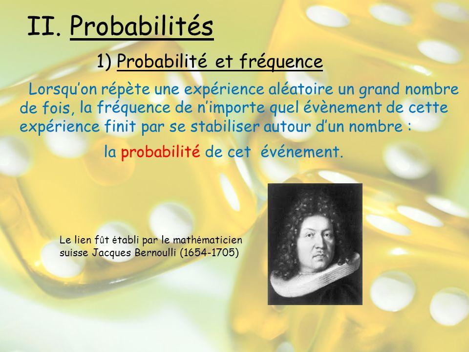 Ainsi, si un événement peut se produire de deux façons incompatibles qui ont les probabilités p 1 et p 2, alors la probabilité que cet événement se produise est la somme soit p = p 1 + p 2 On peut seulement additionner si les événements sont incompatibles.