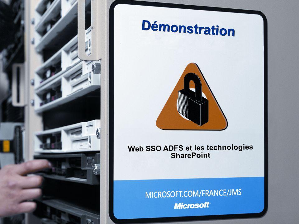 Démonstration Web SSO ADFS et les technologies SharePoint