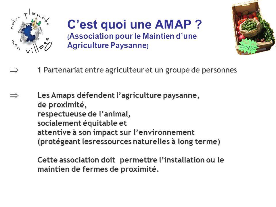 Cest quoi une AMAP ? ( Association pour le Maintien dune Agriculture Paysanne ) Les Amaps défendent lagriculture paysanne, Les Amaps défendent lagricu