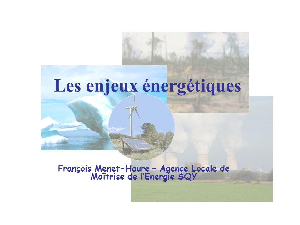 Les enjeux énergétiques François Menet-Haure – Agence Locale de Maîtrise de lEnergie SQY