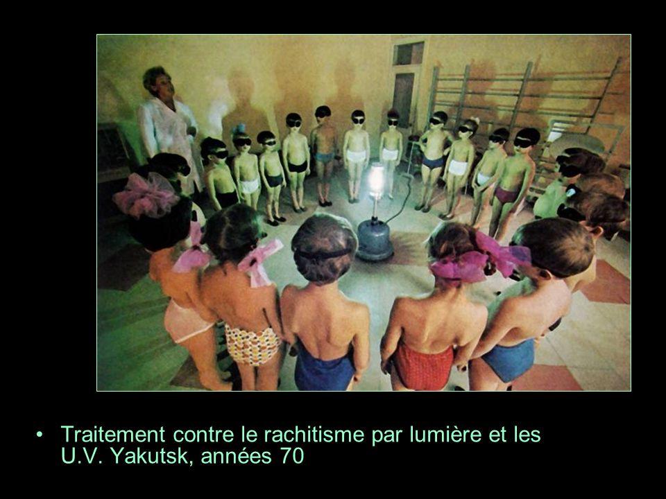 Traitement contre le rachitisme par lumière et les U.V. Yakutsk, années 70