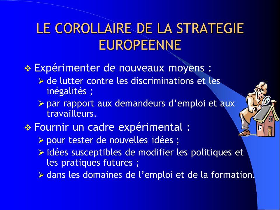 POURQUOI EQUAL ? Stratégie adoptée par lUnion européenne : créer plus demplois ; favoriser de meilleurs emplois ; ne priver personne de laccès à lempl