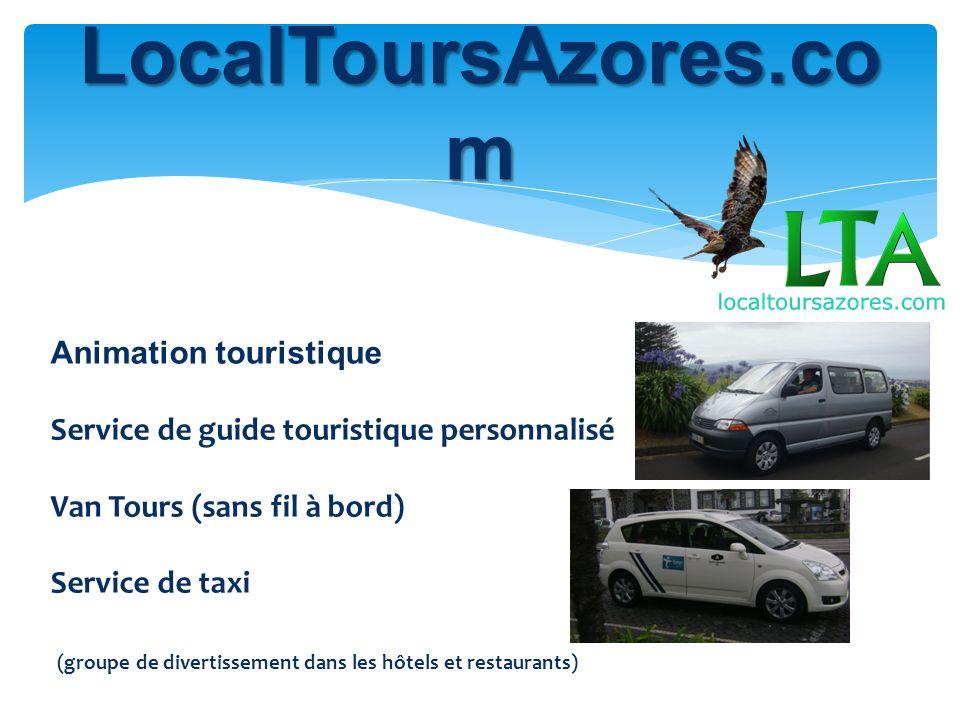 LocalToursAzores.co m Animation touristique Service de guide touristique personnalisé Van Tours (sans fil à bord) Service de taxi (groupe de divertissement dans les hôtels et restaurants)