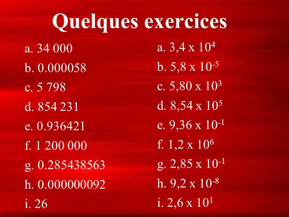 La Notation Scientifique Le nombre 0,000 000 01 se lit