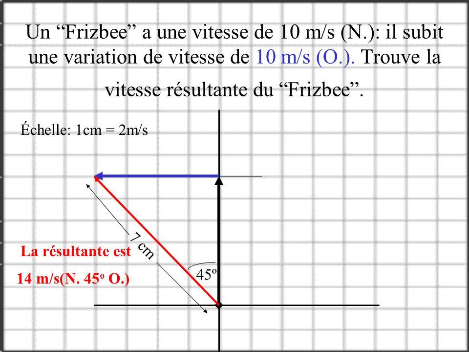 Addition de vecteurs Il faut tracé un axe x et un axe y. Choisi une échelle de grandeur (1cm = 10km). Trace le premier vecteur utilisant la même métho