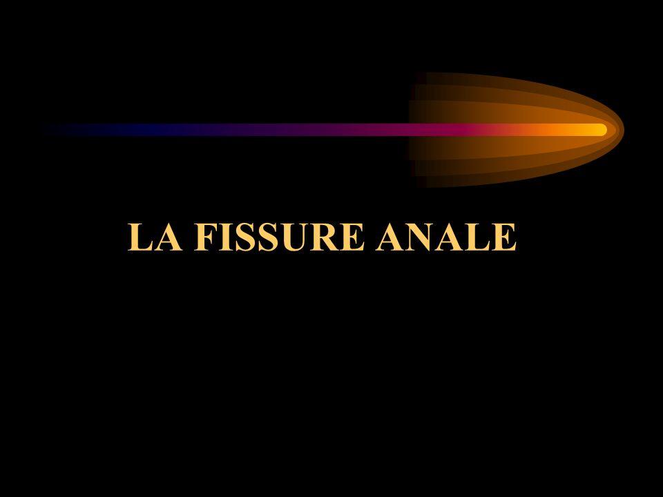 LA FISSURE ANALE