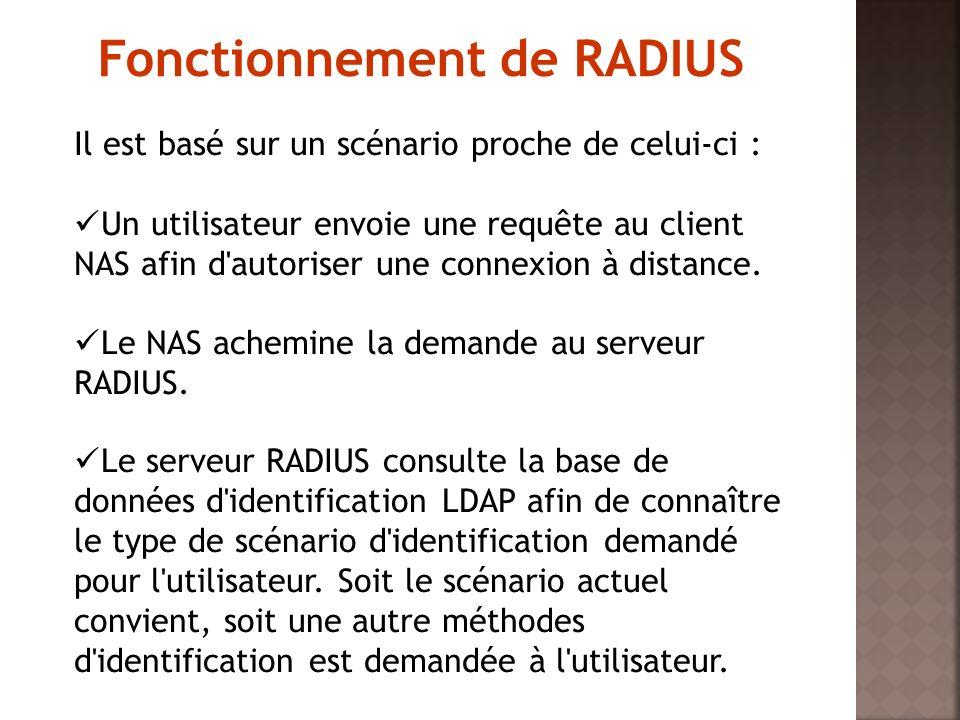 Il est basé sur un scénario proche de celui-ci : Un utilisateur envoie une requête au client NAS afin d'autoriser une connexion à distance. Le NAS ach