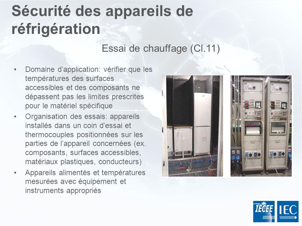 Domaine dapplication: vérifier que les températures des surfaces accessibles et des composants ne dépassent pas les limites prescrites pour le matérie
