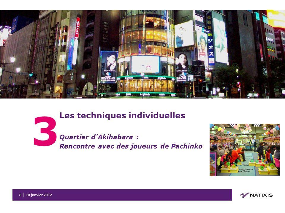 10 janvier 20129 3 Les techniques individuelles Quartier de Shinjuku : Rencontre avec une bande de Yakuza