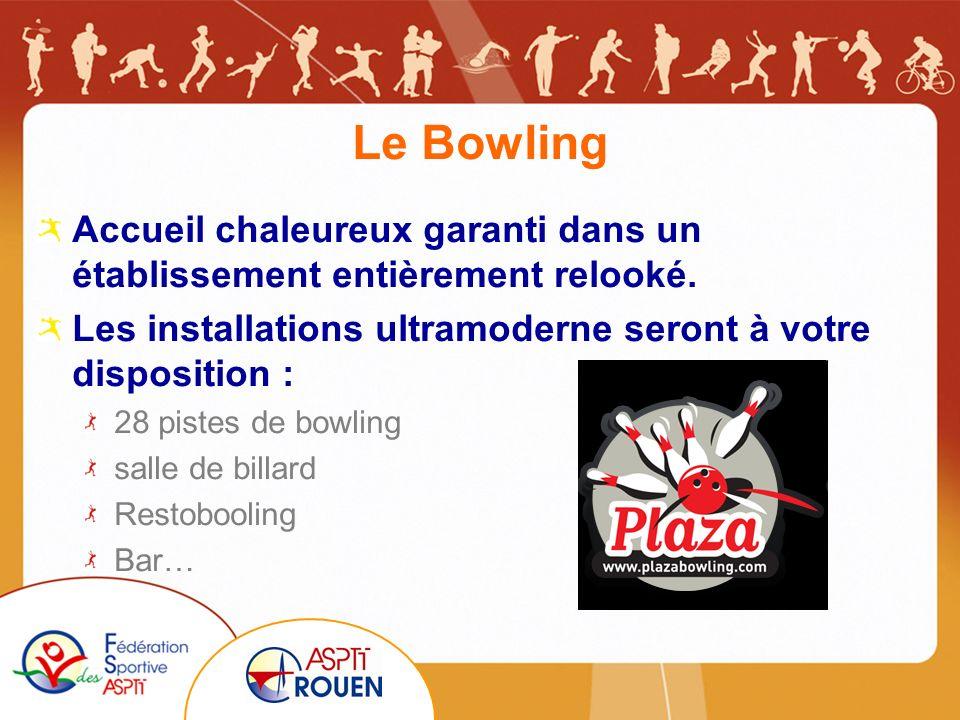 Le Bowling Accueil chaleureux garanti dans un établissement entièrement relooké.