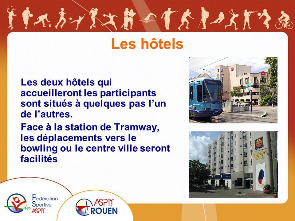 Les hôtels Les deux hôtels qui accueilleront les participants sont situés à quelques pas lun de lautres.
