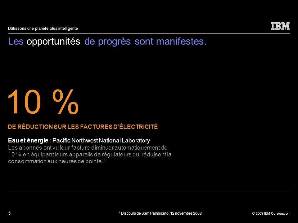 36 © 2009 IBM Corporation Bâtissons une planète plus intelligente Le besoin de progrès est manifeste.