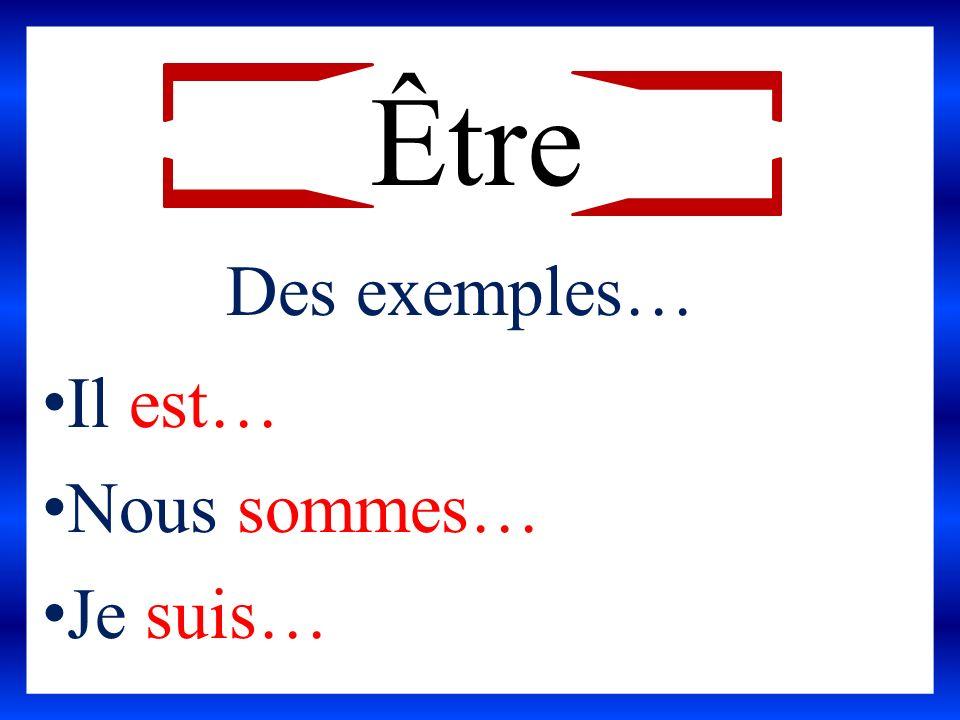 Jean-Pierre… (quoi?) Claire et moi… (faire quoi?) Tu… (faire quoi.