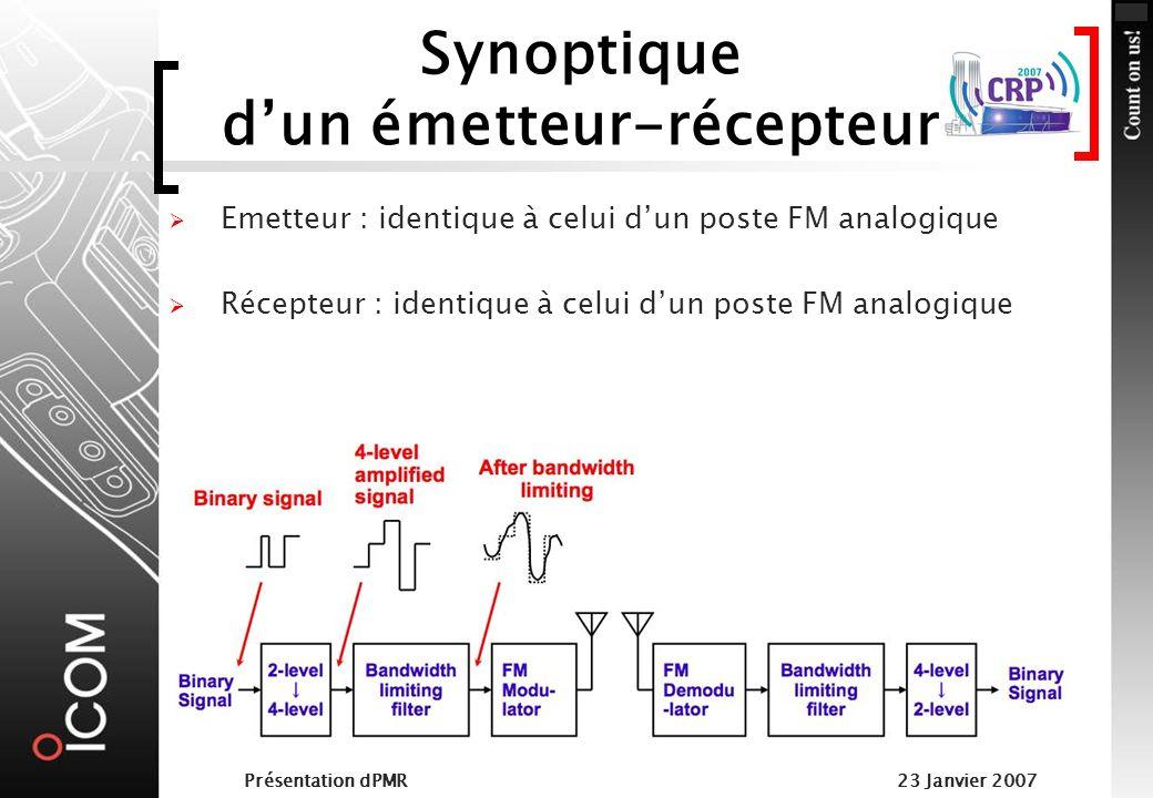 Présentation dPMR23 Janvier 2007 Détail de lémetteur