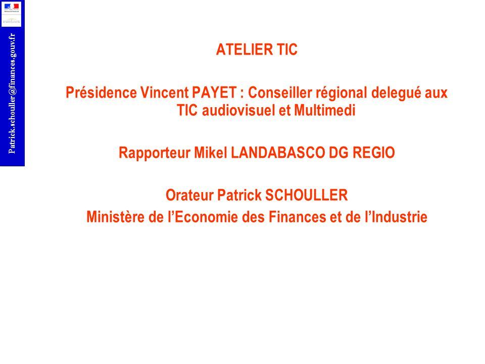 r Patrick.schouller@finances.gouv.fr ACTEURS FRANCAIS RETENUS DANS LES PROJETS ANTERIEURS EDF SCHNEIDER ELECTRIC KNOWLLENCE SARL SIEMENS VDO AUTOMOTIVE LABORATOIRE DES PONTS EUROPE RECHERCHE TRANSPORT DREIFLROP SERVICE dETUDE TECHNIQUE DES ROUTES ET AUTOROUTES ASSOCIATION PROFESSIONNELLES DES SOCIETES FRANCAISES CONCESSIONNAIRES OU EXPLOITANTES D AUTOROUTES ET OUVRAGES ROUTIERS HITACHI EUROPE France SAS INRIA ALTRAN TECHNOLOGIES GIE RECHERCHE RENAULT PSA DELPHI France SAS INRETS ORANGE France URBA 2000
