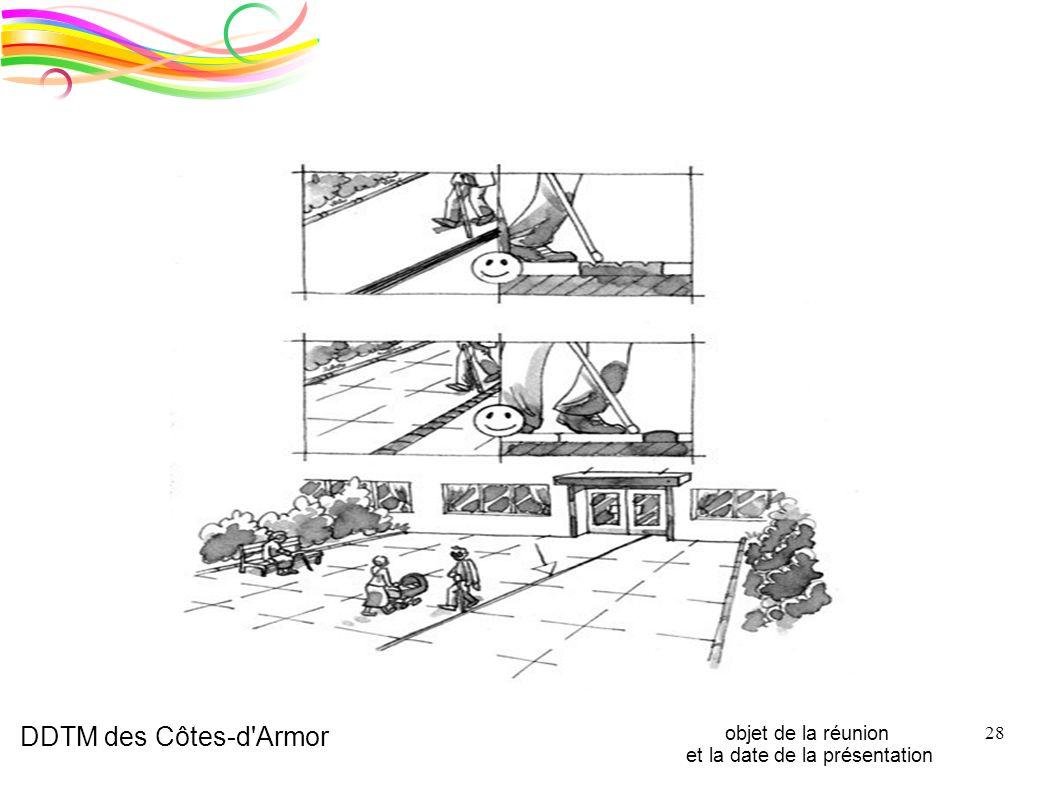 DDTM des Côtes-d'Armor objet de la réunion et la date de la présentation 28