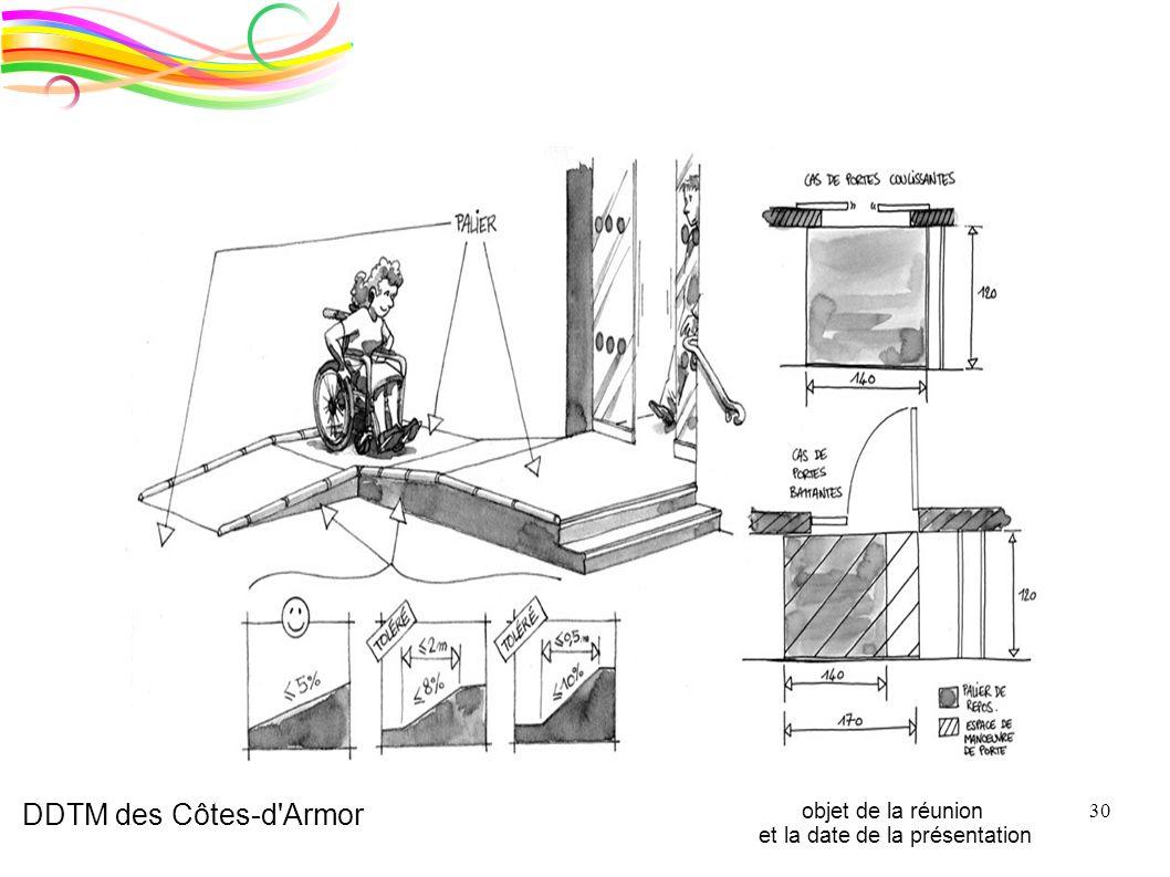 DDTM des Côtes-d'Armor objet de la réunion et la date de la présentation 30