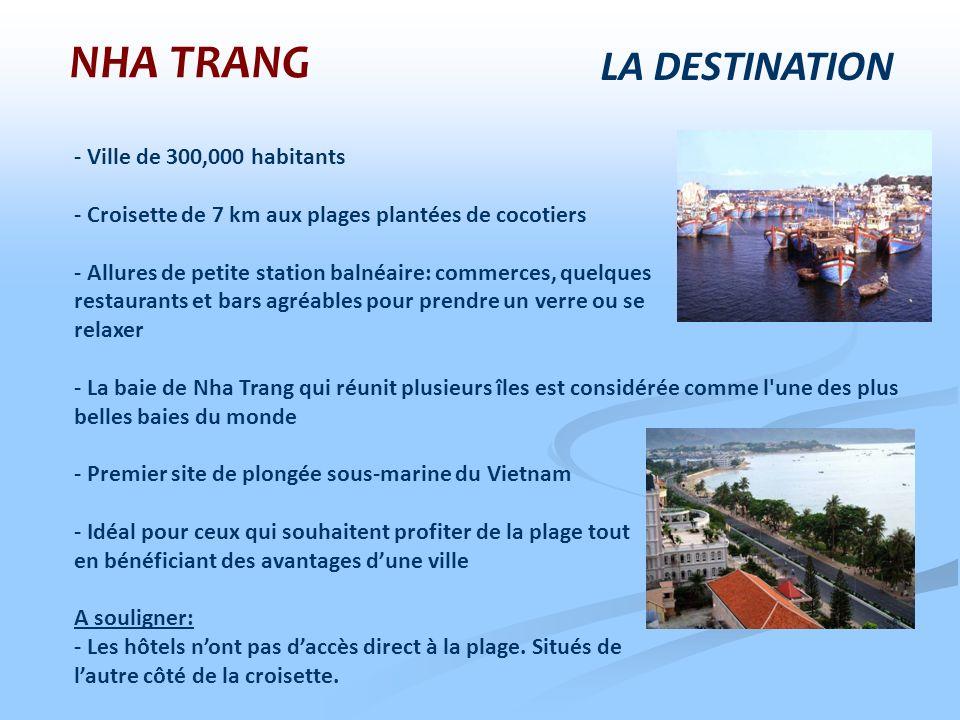 LA DESTINATION - Ville de 300,000 habitants - Croisette de 7 km aux plages plantées de cocotiers - Allures de petite station balnéaire: commerces, que