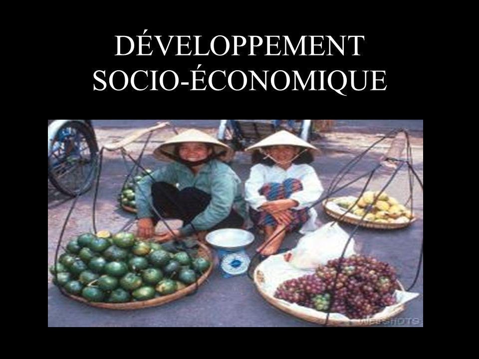 DÉVELOPPEMENT SOCIO-ÉCONOMIQUE