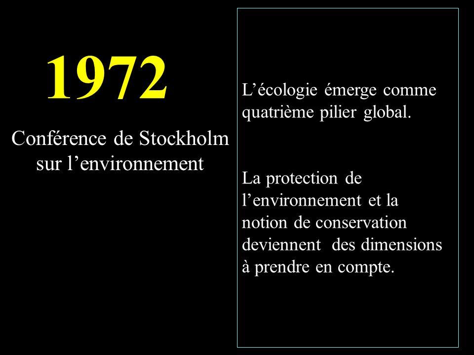 Lécologie émerge comme quatrième pilier global.
