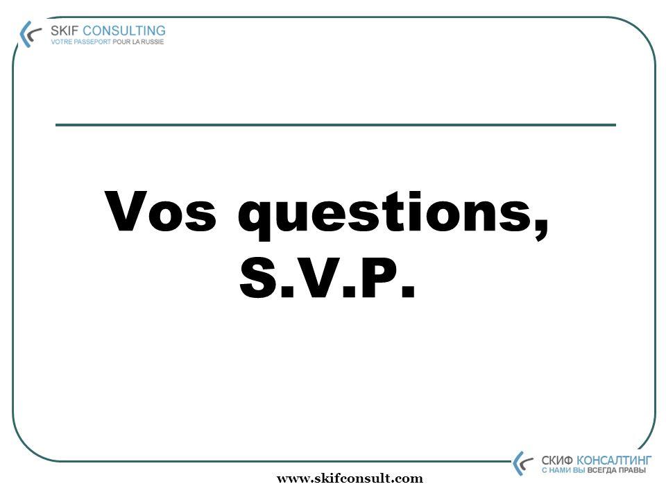 www.skifconsult.com Vos questions, S.V.P.