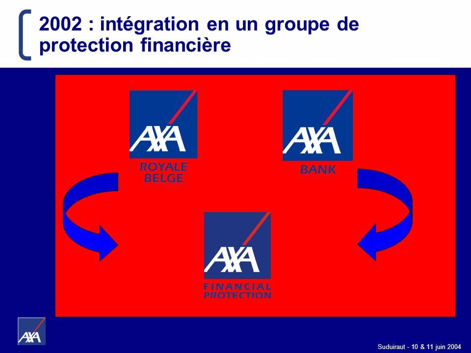 Suduiraut - 10 & 11 juin 2004 2002 : intégration en un groupe de protection financière