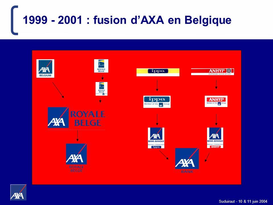 Suduiraut - 10 & 11 juin 2004 1999 - 2001 : fusion dAXA en Belgique