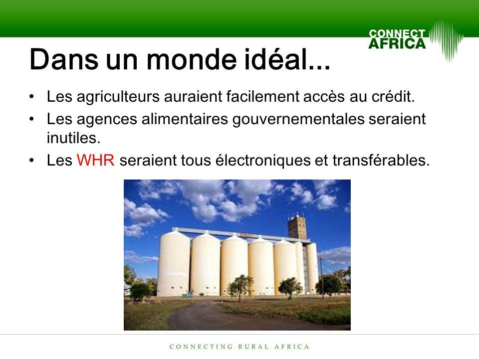 Dans un monde idéal... Les agriculteurs auraient facilement accès au crédit.