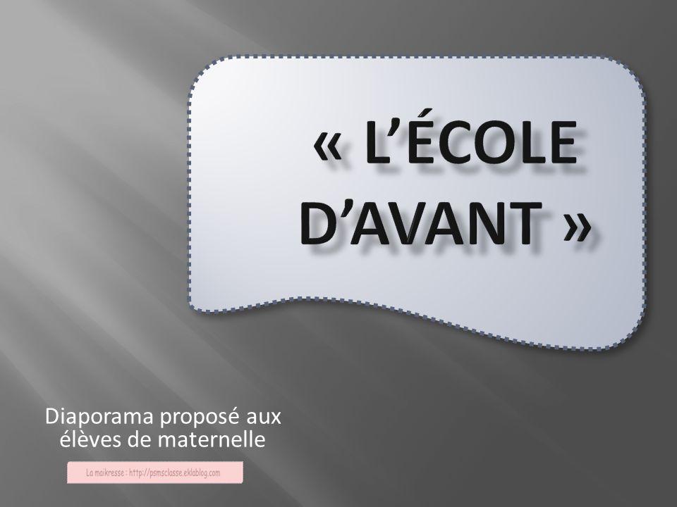 Diaporama proposé aux élèves de maternelle