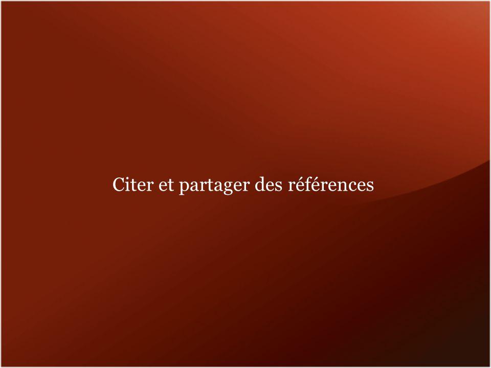 Citer et partager des références