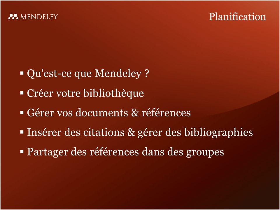 Qu est-ce que Mendeley .