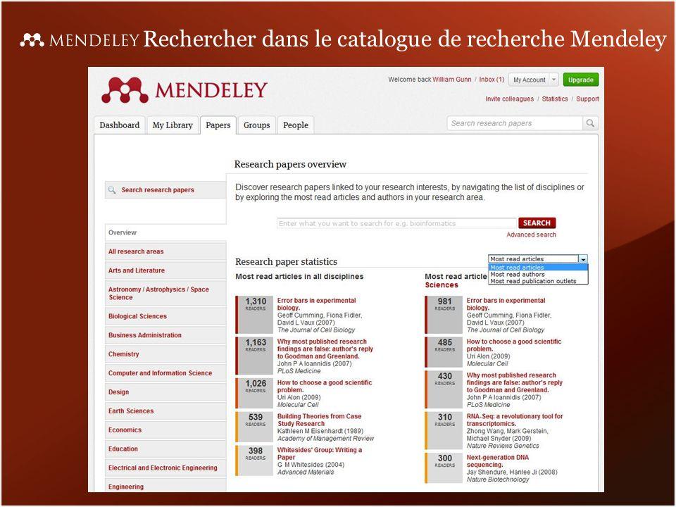 Rechercher dans le catalogue de recherche Mendeley