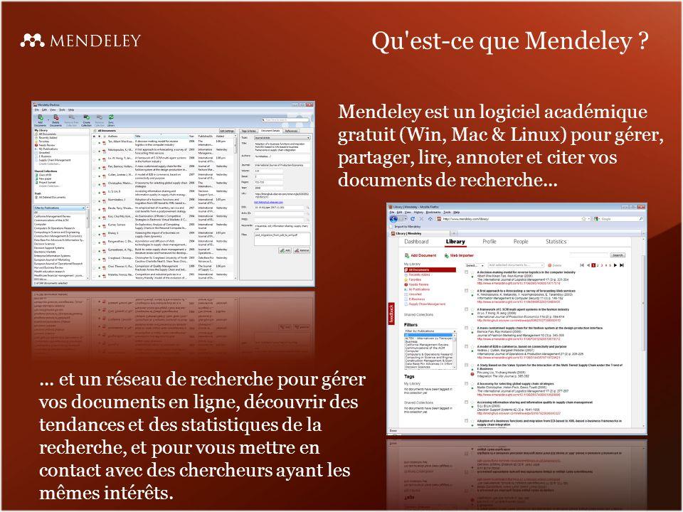 Recherche dans le texte dans la visionneuse PDF de Mendeley