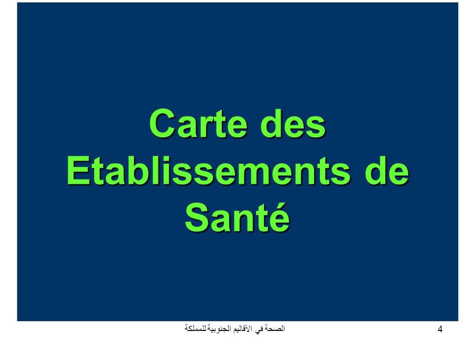 الصحة في الأقاليم الجنوبية للمملكة15 Répartition des investissements dans les équipements médicaux entre 1996 et 2007 Services de santé: 2 - Equipement RégionsProvincesMontant dinvestissements (en million de Dirhams) Oued Eddahab - LagouiraOued Eddahab 13,00 Laayoune – Boujdour – Sakia Hamra Boujdour 2,9 Laayoune24,5 Total Région27,5 Guelmim - SmaraAssa Zag 6,2 Smara2,3 Guelmim7,4 Tantan13,3 Tata6,1 Total Région35,3 Total des trois Régions75,7