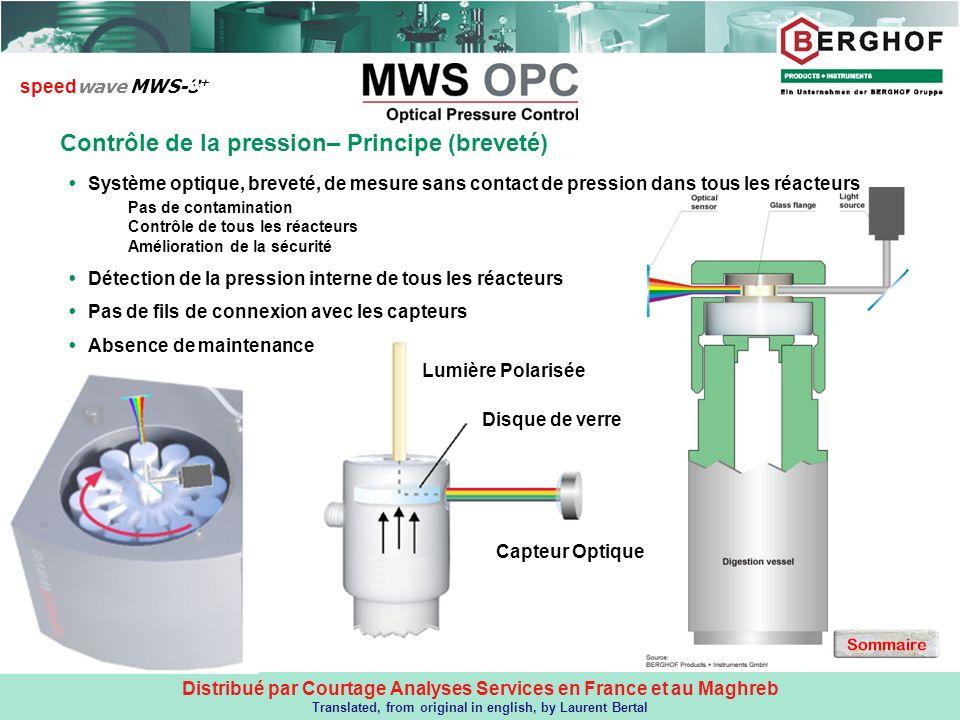 Distribué par Courtage Analyses Services en France et au Maghreb Translated, from original in english, by Laurent Bertal Contrôle de la pression– Prin