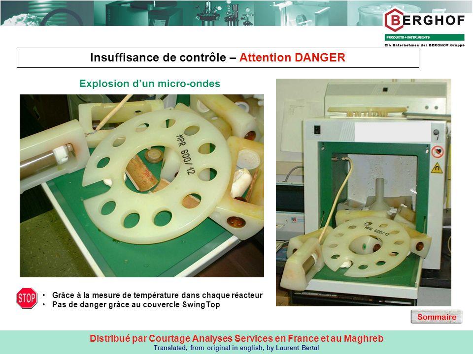Distribué par Courtage Analyses Services en France et au Maghreb Translated, from original in english, by Laurent Bertal Insuffisance de contrôle – At