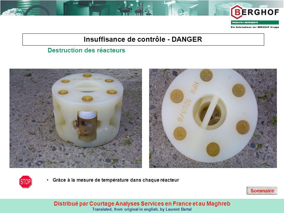 Distribué par Courtage Analyses Services en France et au Maghreb Translated, from original in english, by Laurent Bertal Insuffisance de contrôle - DA