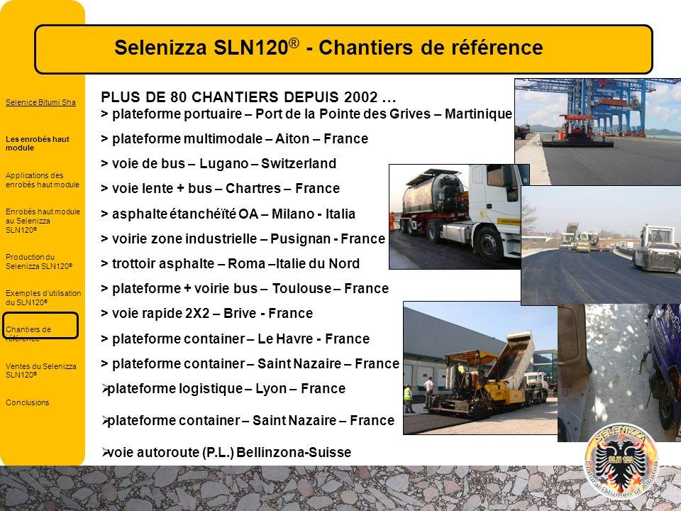 PLUS DE 80 CHANTIERS DEPUIS 2002 … > plateforme portuaire – Port de la Pointe des Grives – Martinique > plateforme multimodale – Aiton – France > voie