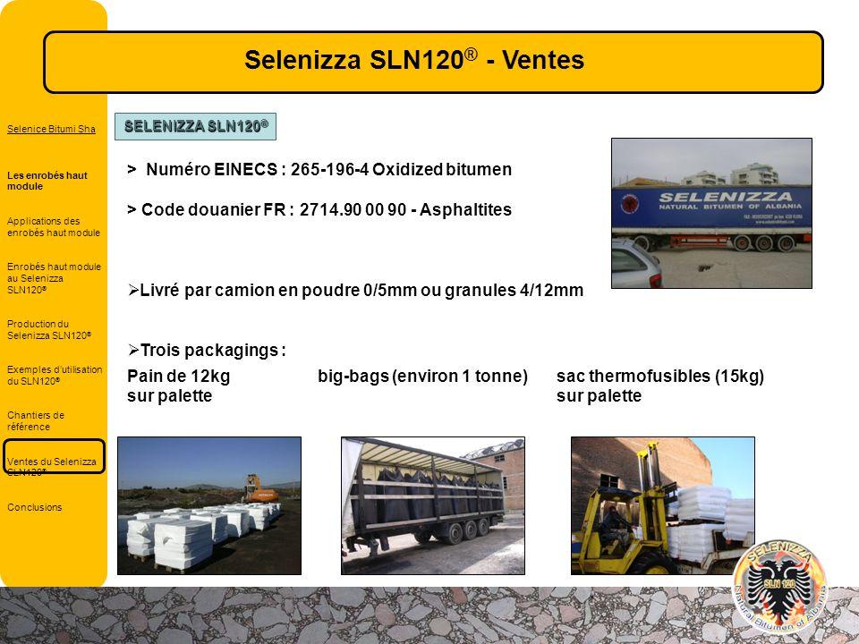 > Numéro EINECS : 265-196-4 Oxidized bitumen > Code douanier FR : 2714.90 00 90 - Asphaltites Livré par camion en poudre 0/5mm ou granules 4/12mm Troi