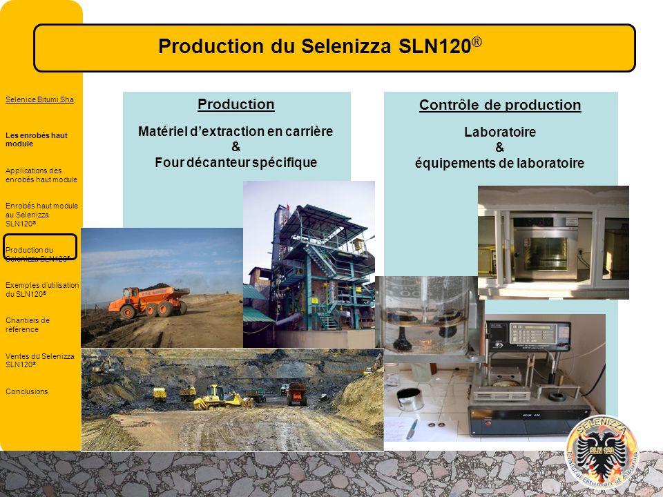 Contrôle de production Laboratoire & équipements de laboratoire Production Matériel dextraction en carrière & Four décanteur spécifique Selenice Bitum