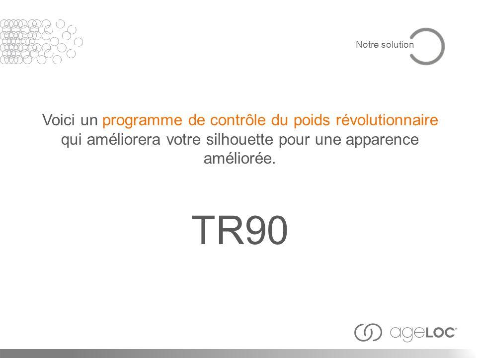 Voici un programme de contrôle du poids révolutionnaire qui améliorera votre silhouette pour une apparence améliorée. TR90 Notre solution