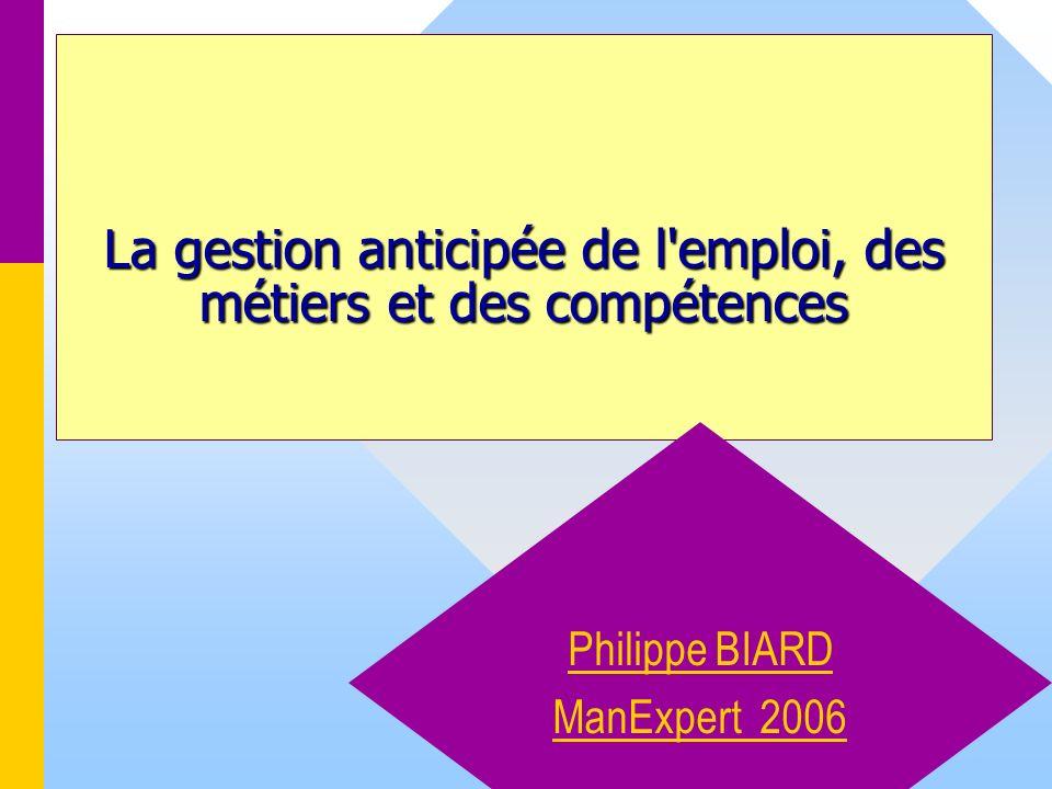 1 La gestion anticipée de l'emploi, des métiers et des compétences Philippe BIARD ManExpert 2006