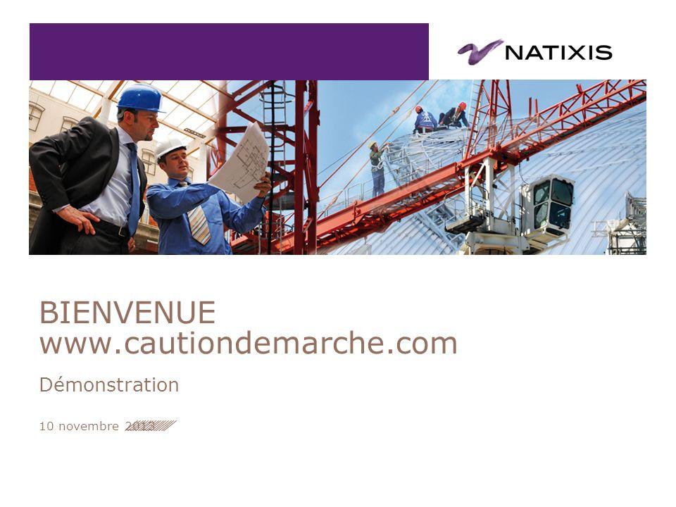 BIENVENUE www.cautiondemarche.com Démonstration 10 novembre 2013