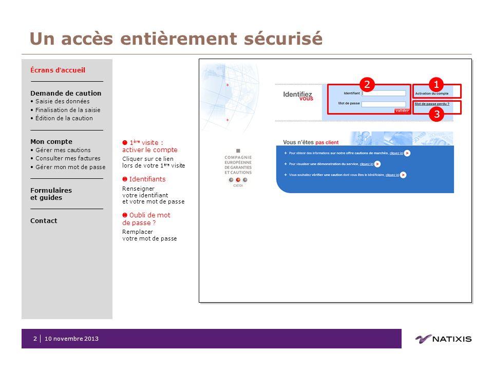 2 1 ère visite : activer le compte Cliquer sur ce lien lors de votre 1 ère visite Identifiants Renseigner votre identifiant et votre mot de passe Oubl