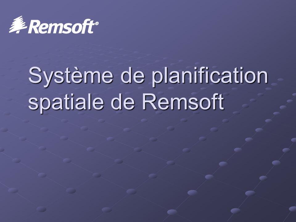 Système de planification spatiale de Remsoft