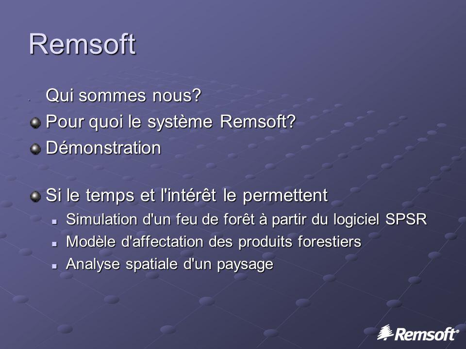 Remsoft Qui sommes nous. Qui sommes nous. Pour quoi le système Remsoft.