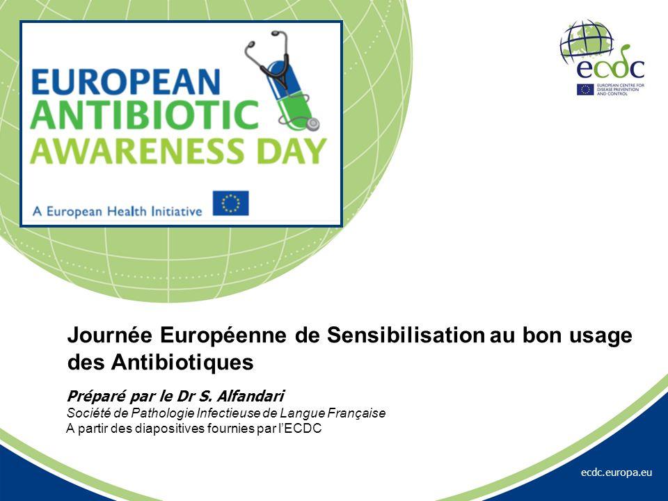 ecdc.europa.eu Préparé par le Dr S. Alfandari Société de Pathologie Infectieuse de Langue Française A partir des diapositives fournies par lECDC Journ
