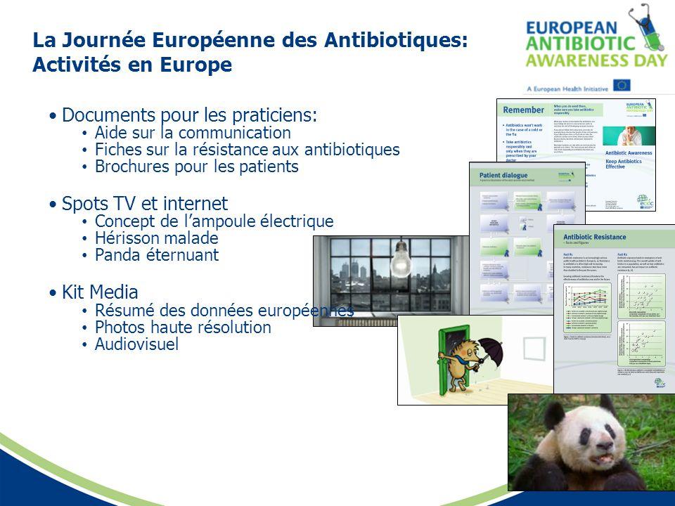 La Journée Européenne des Antibiotiques: Activités en Europe Documents pour les praticiens: Aide sur la communication Fiches sur la résistance aux ant