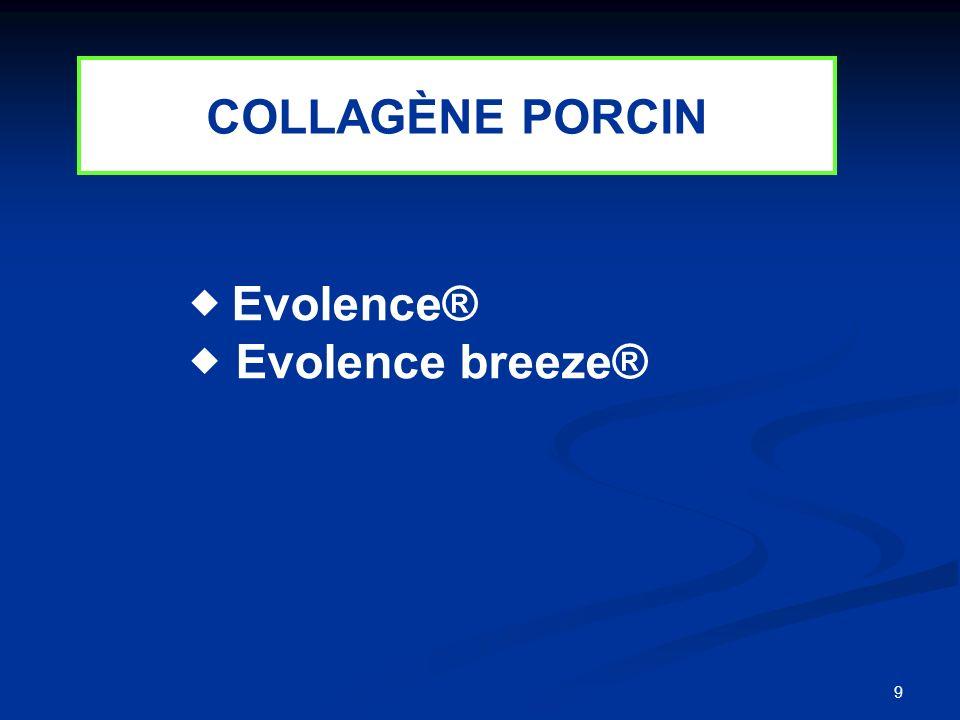 9 Evolence® Evolence breeze® COLLAGÈNE PORCIN
