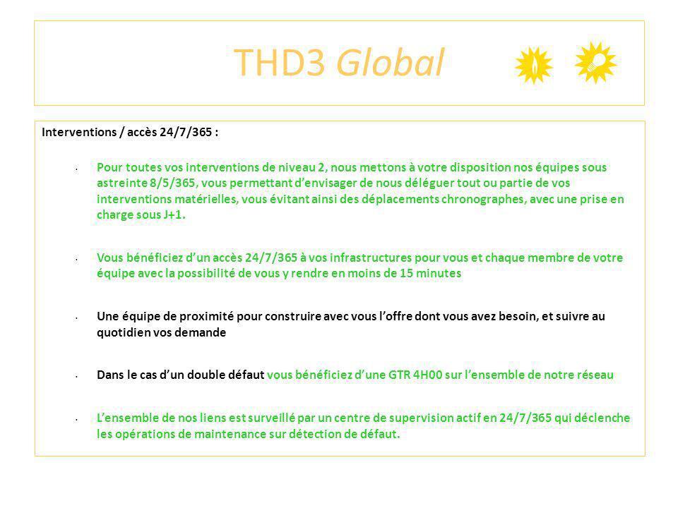 THD3 Global Interventions / accès 24/7/365 : Pour toutes vos interventions de niveau 2, nous mettons à votre disposition nos équipes sous astreinte 8/